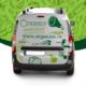 brendiranje i dizajn vozila za firmu organico