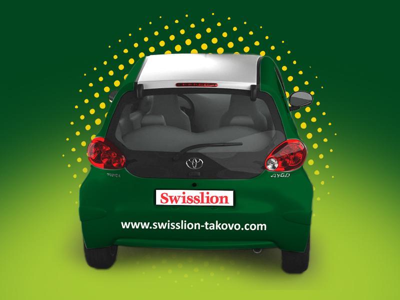 Dizajn na zadnjoj strani vozila sa logotipom