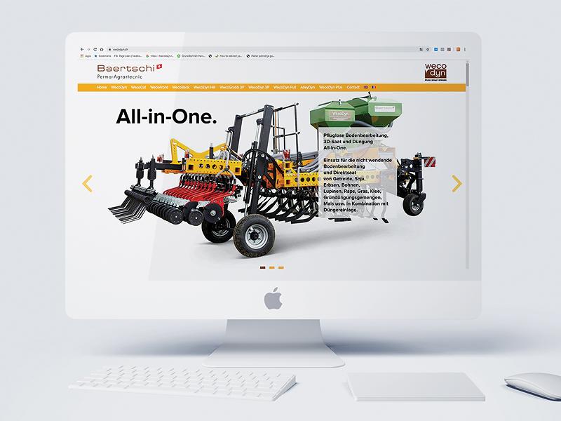 prikaz dizajna web sajta na apple monitoru