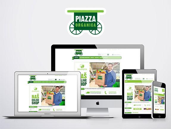 Case study: organska hrana na klik od vas (web shop 'Piazza Organica')