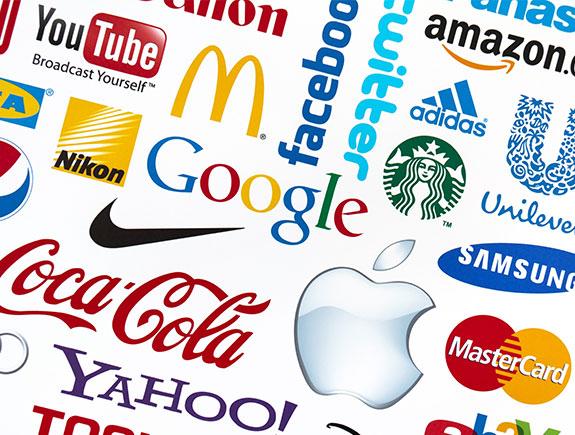 vise raznih logotipa zajedno svetski poznatih brendova