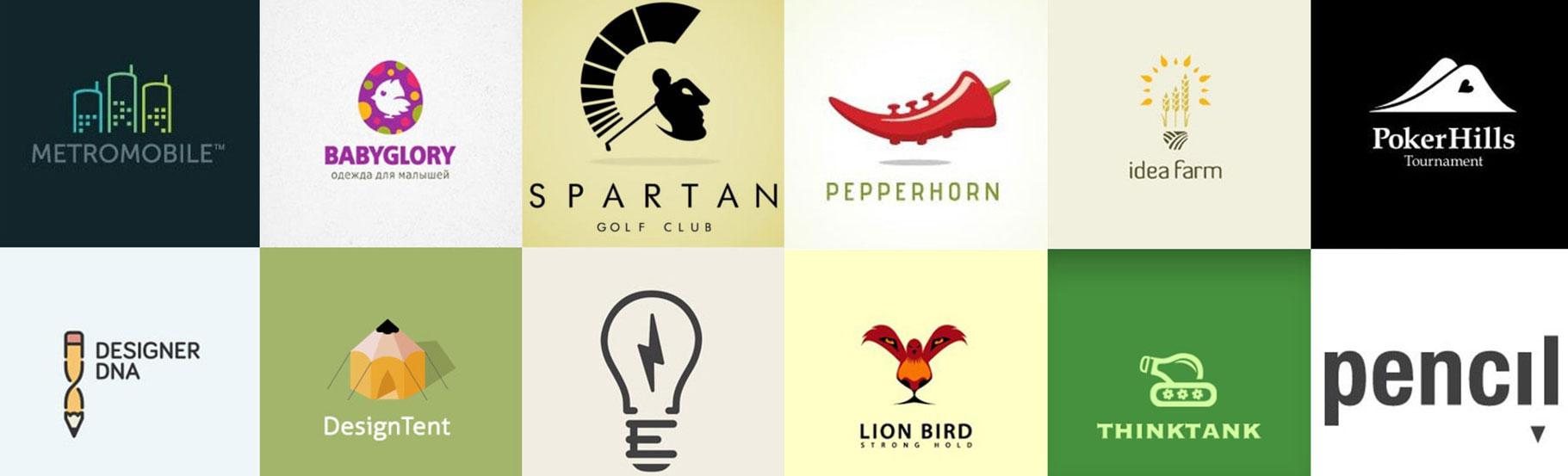 prikaz 12 razlicitih logotipa