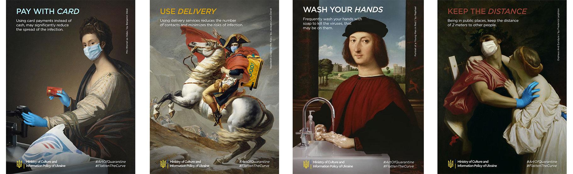 primeri reklama cuvenih slikara sa gde su portreti sa maskama na licu
