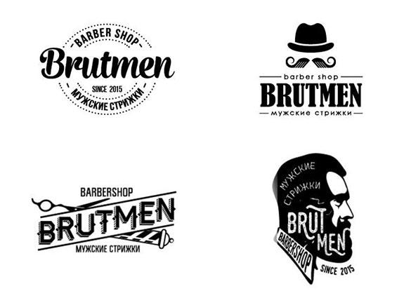 prikaz varijacija logotipa brutmen