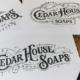 logo cedar house soaps primer na papiru