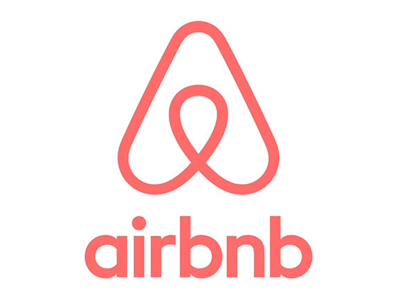 logo u jednoj boji po vertikali airbnb