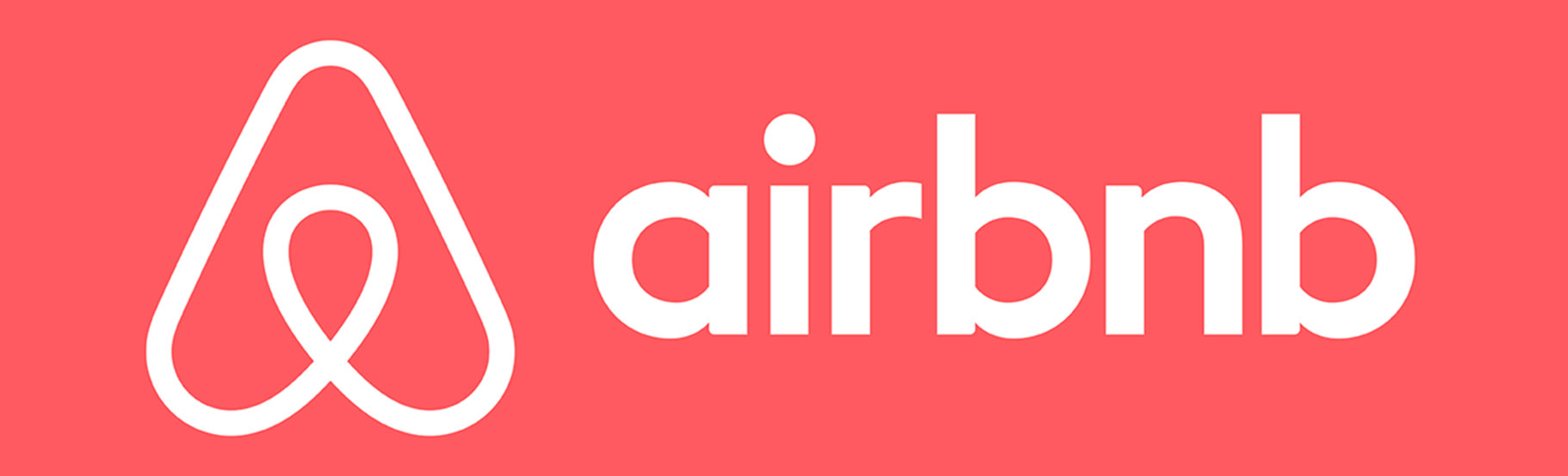 horizontalni logo Airbnb u jednoj boji