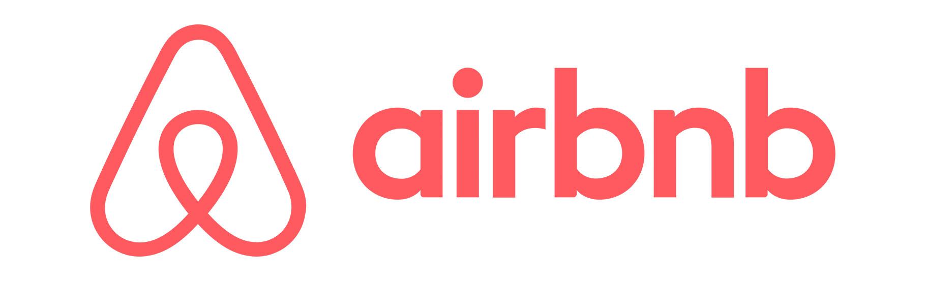 logo jednoj boji u horizontali airbnb