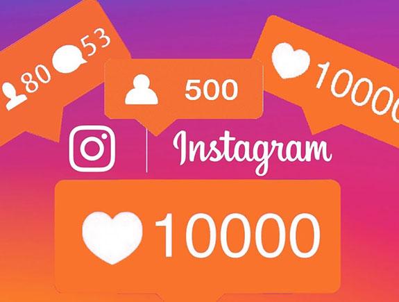 Notifikacije za instagram na rozoj podlozi