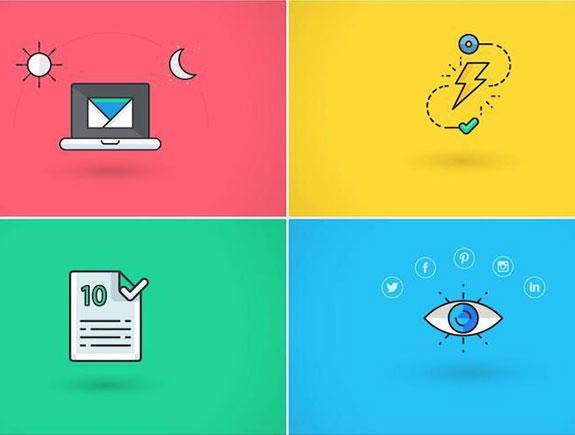 Laptop, grom, zabeleška, oko