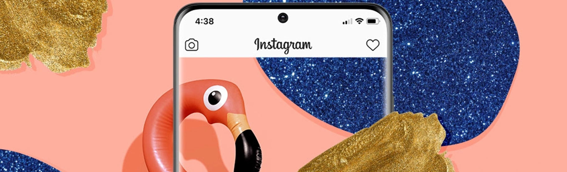 Ekran belog mobilnog telefona i rozi flamingos